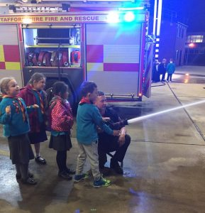 94th Keele visit Newcastle fire station