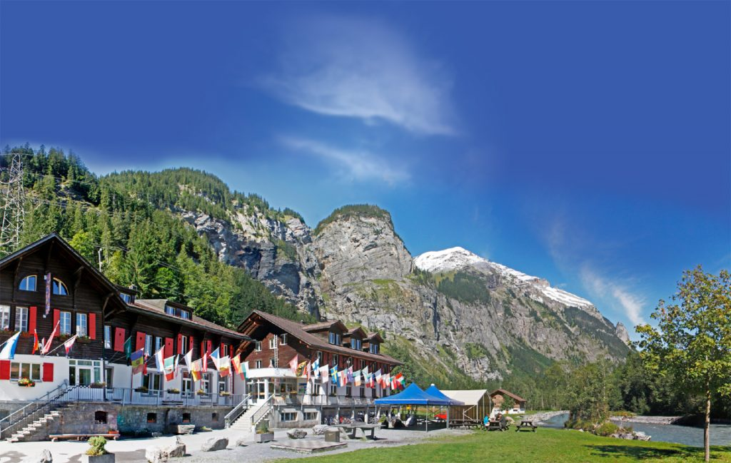 A view of Kanderlodge at the Kandersteg International Scout Centre